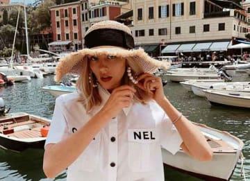 Shea Marie Poses In Portofino, Italy