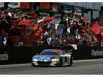 第47回ニュルブルクリンク24時間レースで総合優勝したAudi Sport Team PhoenixのAudi R8 LMSの4号車