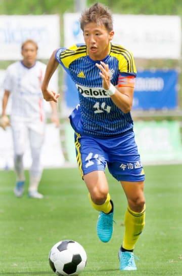 ポルティモネンセからFC今治への復帰が決定的となった長島=2018年6月24日、夢スタ