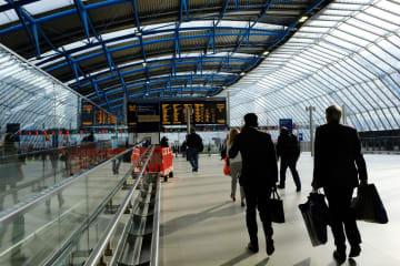 ウォータールー駅内にある元ユーロスター国際ターミナル