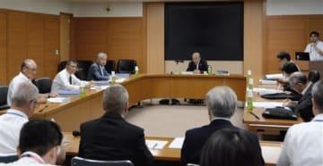 益城町復興土地区画整理事業のうち、1.5ヘクタールの仮換地案を承認した県審議会=24日、県庁