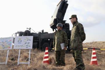 3月1日、「イージス・アショア」と同じ周波数帯の電波を出す対空レーダーを使って行われた影響調査=秋田市の陸上自衛隊新屋演習場