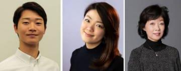 (左から)大森一樹さん、森野美咲さん、山尾悠子さん