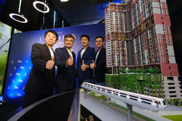 Executives from Japan's Creed Group and Thailand's Altitude Development Co. at the launch of their joint venture to build a high-rise condominium in Bangkok. (Photo courtesy of Altitude Development)