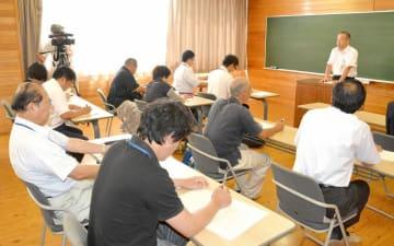 豚コレラの予防徹底を確認した対応連絡会議=6月26日、福井県家畜保健衛生所
