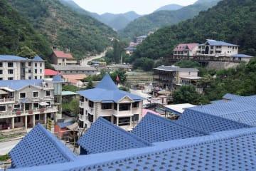 山奥にある欧州風の街並み 天津市常州村