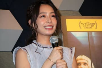 映画「ピアッシング」の公開直前イベントに登場した宇垣美里さん
