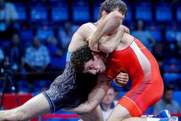 欧州大会を制した74kg級世界王者のザウルベク・シダコフ(ロシア)=提供・UWW