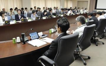 コンビニを巡る課題を議論する有識者検討会の初会合=28日午前、経産省