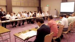 貴船・鞍馬山国有林の森林再生計画策定に向け開かれた第1回検討委員会(京都市上京区のホテル)