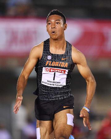 日本選手権 男子 100m 準決勝 サニブラウン・アブデル・ハキーム 写真:松尾/アフロスポーツ