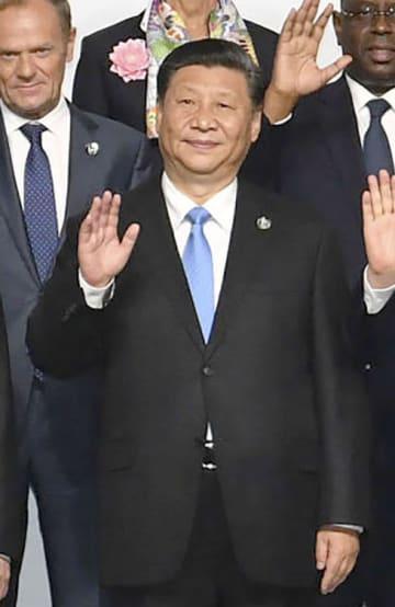 中国の習近平国家主席=28日、大阪市