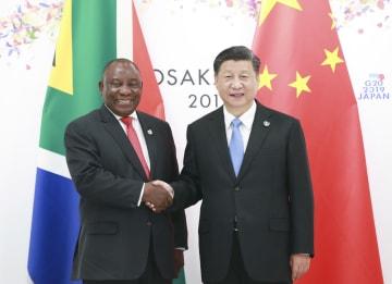 習近平主席、南アフリカ大統領と会見 「一帯一路」構想連携を確認