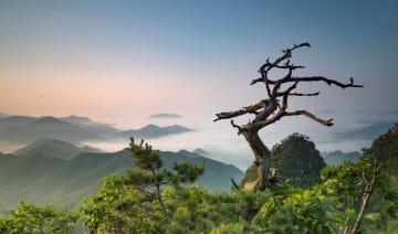 壮麗な天門山 遼寧省荘河市