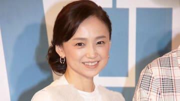 映画「ペット2」の日本語吹き替え版完成会見に登場した永作博美さん