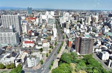 官民による再開発が進む高崎市の中心市街地。マンション需要が大きく、建設が相次いでいる
