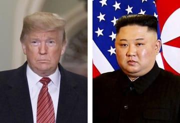トランプ米大統領(ゲッティ=共同)、北朝鮮の金正恩朝鮮労働党委員長(AP=共同)