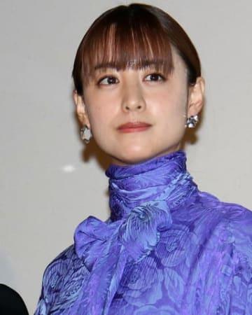 映画「ザ・ファブル」の公開記念舞台あいさつに登場した山本美月さん