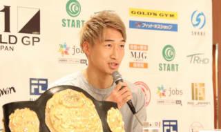 ゲーオを破りスーパーライト級王者となった安保瑠輝也