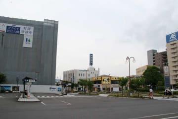 分譲マンションの売れ行きが好調で、路線価が上昇したJR近江八幡駅前(近江八幡市鷹飼町)