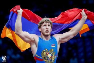 復帰のあと2大会連続で優勝、世界一返り咲きに向かうアルトゥール・アレクサニャン(アルメニア)=提供・UWW