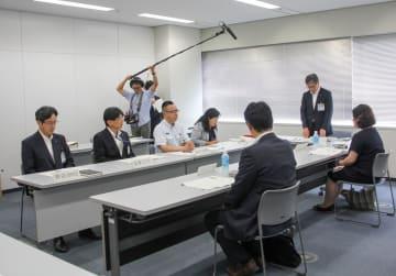 横浜市営地下鉄の脱線事故を検証するため、市交通局が設置した事故調査委員会の初会合=横浜市西区