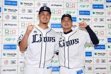 監督推薦での球宴出場が決まった西武の高橋光(左)と平井(西武ライオンズ提供)