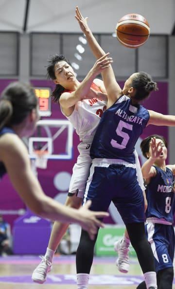昨夏のジャカルタ・アジア大会銅メダルに貢献した永田(東京医療保健大)。今大会も主力として活躍が期待される=ジャカルタ