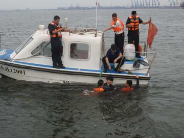 国家2級保護動物のスナメリを渤海湾沿岸部で救出