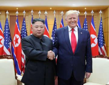 板門店で行われた3回目の米朝首脳会談はG20が閉幕した翌日の出来事だった(写真は「労働新聞」ウェブサイトから)