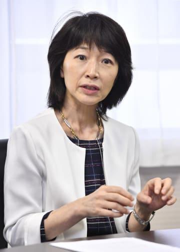 インタビューに答える東京医科大の林由起子学長