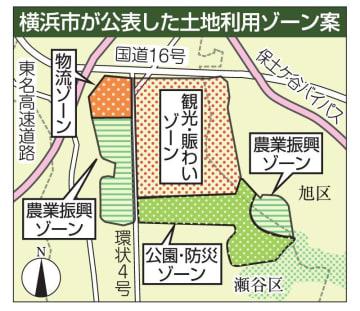 横浜市が公表した土地利用ゾーン案