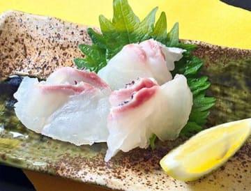 渡邉水産の穂州鯛の刺身。渡邉美保子さんは「魚本来の甘みが強く、弾力のある身が特徴」と話す(提供)