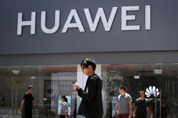北京にあるファーウェイの店舗=6月30日(AP=共同)