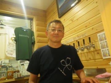 TKBrewingの高林亮一氏。気さくにビールのことをお話していただきました!ありがとうございました。
