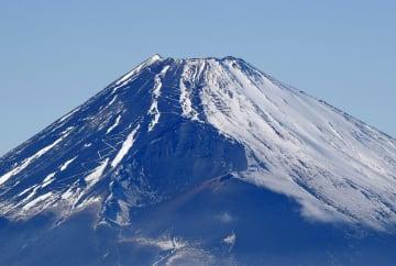 静岡県三島市上空から見た富士山