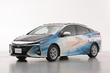 世界最高水準の高効率太陽電池を搭載した電動車の公道走行実証を開始 太陽電池パネルを搭載した「プリウスPHV」実証車
