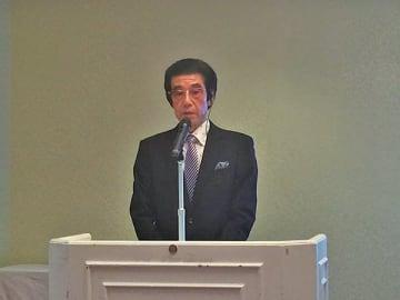 ▲謝辞を述べる大和さん