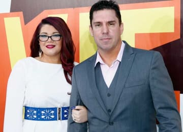 LOS ANGELES, CA - APRIL 12: TV personalities Amber Portwood (L) and Matt Baier attend The 2015 MTV Movie Awards at Nokia Theatre L.A. Live on April 12, 2015 in Los Angeles, California. (Photo by Rich Polk/Getty Images for MTV)