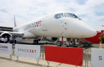 三菱航空機の国産初のジェット旅客機スペースジェット=6月、パリ近郊(共同)