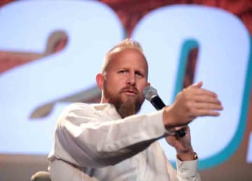 Brad Parscale speaking at an event in West Palm Beach, Florida. Date: 20 December 2018 Source: Own work Author: Gage Skidmore (Wikipedia)