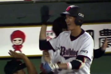 プロ初本塁打を放ったオリックス・佐野皓大【画像:(C)PLM】