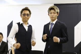 少年時代の安本(右)と一緒に撮影した写真が大反響を呼び駿太(左)は「感慨深い」