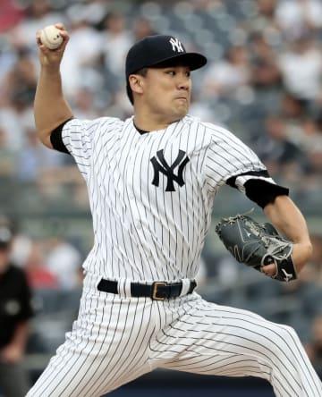 ヤンキースの田中将大投手=6月17日、ニューヨーク
