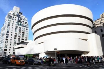 フランク・ロイド・ライトが手掛けたグッゲンハイム美術館=米ニューヨーク(ゲッティ=共同)
