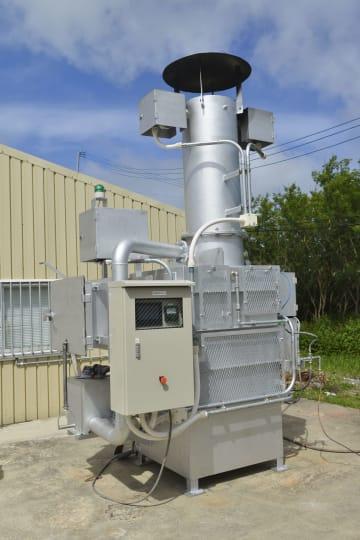 トマス技術研究所が開発した小型焼却炉「チリメーサー」