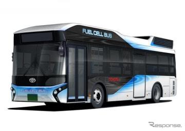 世界初の量産型燃料電池バスであるトヨタFCバス