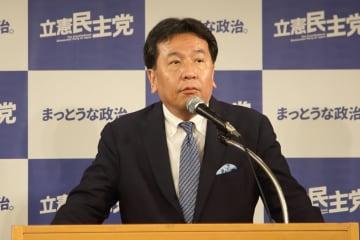 枝野幸男氏は「立憲民主党」の代表だ(2019年6月撮影)