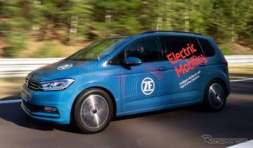 ZFの電動車向け新開発2速トランスミッションを搭載するテスト車両