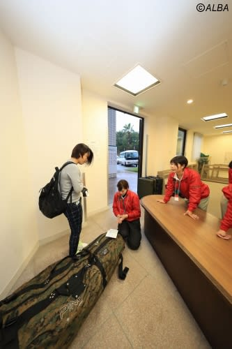 選手たちがこぞって利用する宅配サービス 今週はさらにうれしい計らいが(写真は2017年マスターズGCレディース)(撮影:鈴木祥)